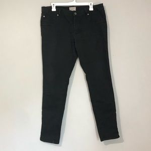 Converse One Star Black Jeans with Bottom Zipper
